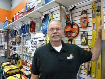Jim O'Donnell of Dominics Rental Equipment in our Show Room