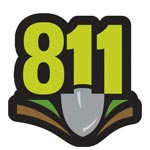 Call 811 before digging image